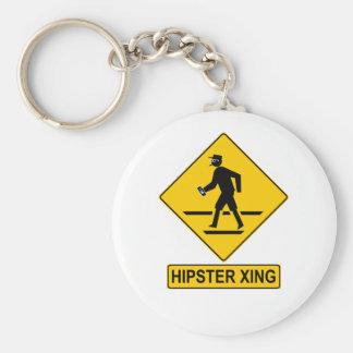 Hipster X-ing Keychain Standard Runder Schlüsselanhänger