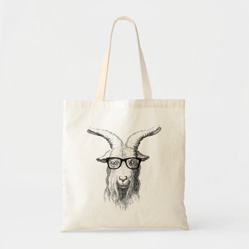 Hipster-Ziege Einkaufstasche