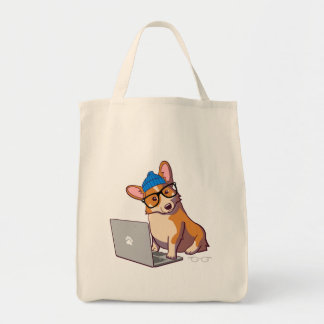 HipsterCorgi 2 (ohne Text) Einkaufstasche