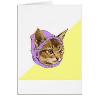 Hipsterkitty-Katzen-Ratetier Meme Grußkarte