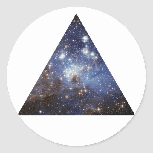 Hipsterraum-Dreieckaufkleber