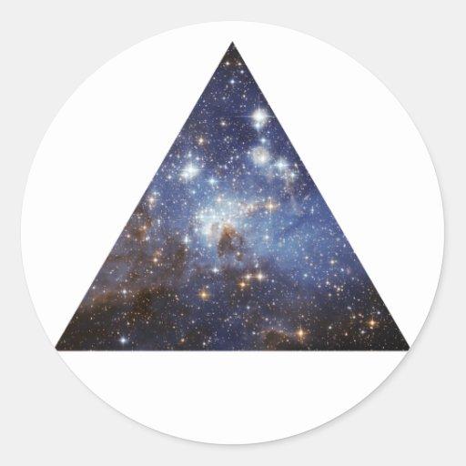 Hipsterraum-Dreieckaufkleber Runder Aufkleber