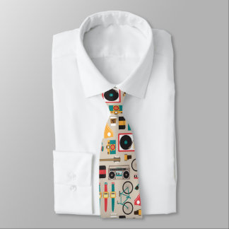 Hipsterrific Hipster-Sache-Muster (Cinereous) Bedruckte Krawatte