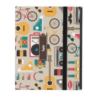 Hipsterrific Hipster-Sache-Muster (Cinereous) iPad Schutzhülle