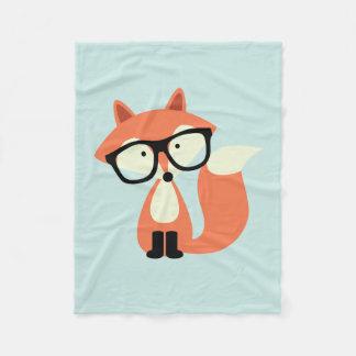 Hipsterroter Fox Fleecedecke