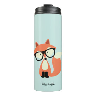Hipsterroter Fox Thermosbecher