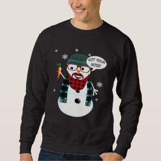 HipsterSnowman erhielt Ihre Nase Sweatshirt