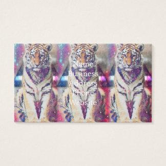 Hipstertiger - Tigerkunst - Dreiecktiger - Tiger Visitenkarte