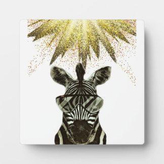 Hipsterzebra-Art-Tier Fotoplatte
