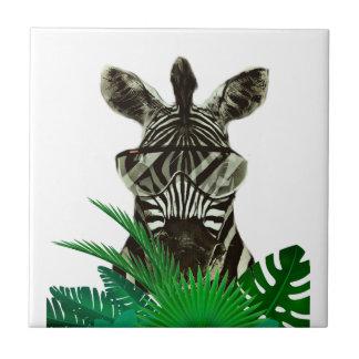 Hipsterzebra-Art-Tier Keramikfliese