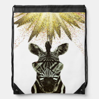 Hipsterzebra-Art-Tier Turnbeutel