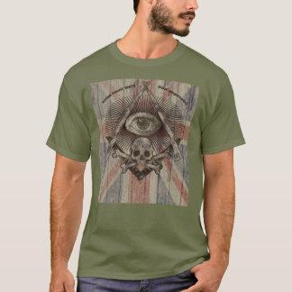 Hiram Abiff Freimaurer mit Gewerkschafts-Jack T-Shirt