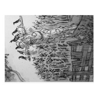 """""""Hirnlose"""" Vogelscheuche Postkarte"""