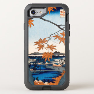 Hiroshige Ahornbäume an Mutter, Tekona Schrein OtterBox Defender iPhone 8/7 Hülle