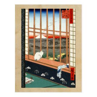 Hiroshige Asakusa Ricefields und Torinomachi Festi Postkarte