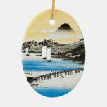 Hiroshige der Fujisan japanisches Kunst-Weihnachte Weihnachtsbaum Ornamente
