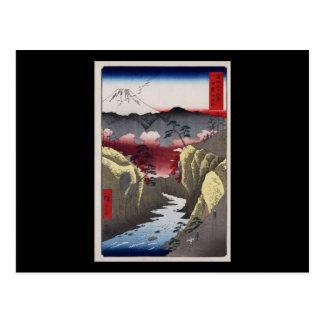 Hiroshige Inume Durchlauf in Kai Provinz Postkarte