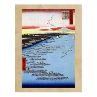 Hiroshige Minami-Shinagawa und Samezu Küste Postkarte