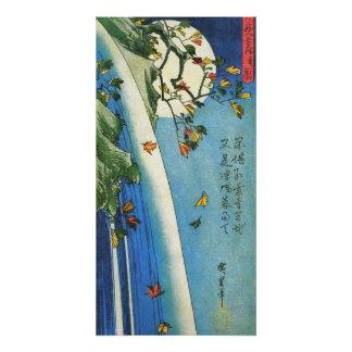 Hiroshige Mond über einer Poster