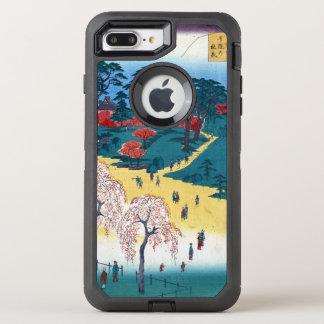 Hiroshige Tempel-Gärten, Nippori OtterBox Defender iPhone 8 Plus/7 Plus Hülle
