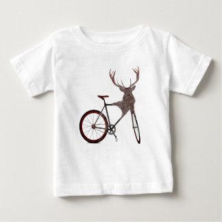 Hirsch-Fahrrad Baby T-shirt