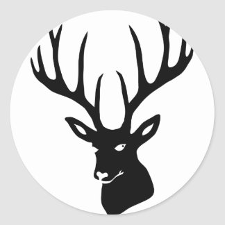 Hirsch Geweih Hirschgeweih Wild Elch Reh Stag Deer Runder Aufkleber