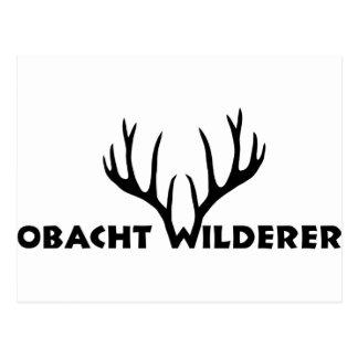 hirsch geweih party wilderer jäger jagd postkarte
