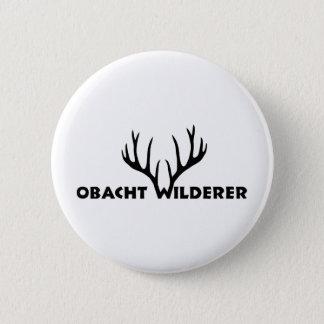 hirsch geweih party wilderer jäger jagd runder button 5,1 cm