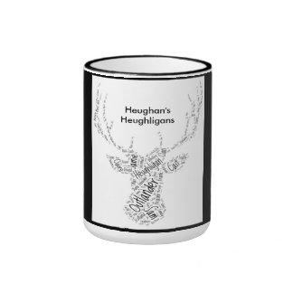 Hirsch-Tassen-Wort-Wolken-Entwurf Ringer Tasse