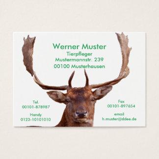 Hirsch-Visitenkarten Jumbo-Visitenkarten