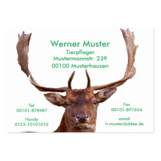 Hirsch-Visitenkarten Mini-Visitenkarten