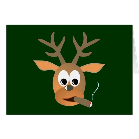 Hirsch Zigarre deer cigar Karte