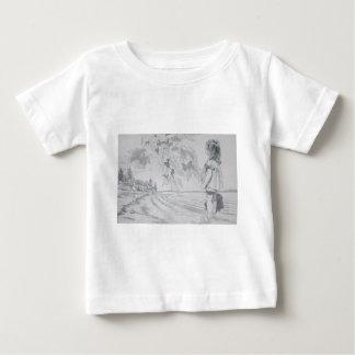 Hirschkunstzeichnungen alt und neue 026 baby t-shirt