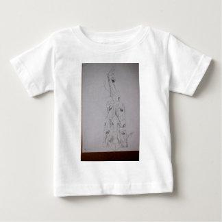 Hirschkunstzeichnungen alt und neue 124 baby t-shirt