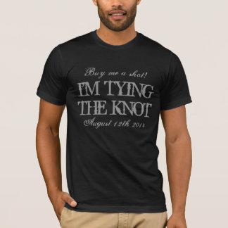 Hirschnachtjunggeselle-Partyt-shirt, damit der T-Shirt