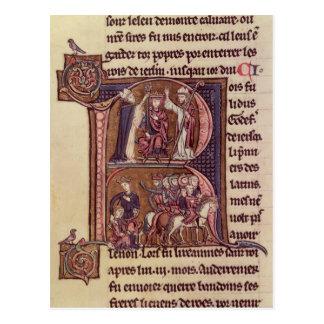 Historiated Initiale 'R Postkarte