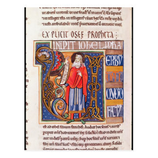 "Historiated Initiale ""U"" Joel darstellend Postkarte"