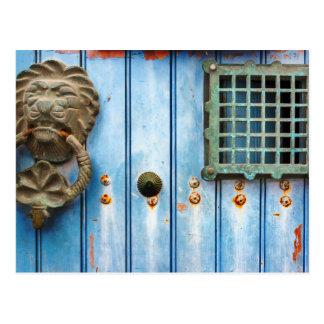 Historic Door Knocker Postkarte