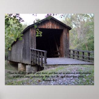Historische Brücke Poster