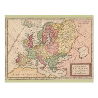 Historische Karte 1721 von Europa Postkarte