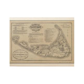 Historische Karte der Nantucket Wand-Kunst Holzposter