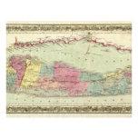 Historische Karte der Reisend-1855-1857 von Long I Flyerdruck