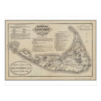 Historische Karte von Nantucket Postkarte