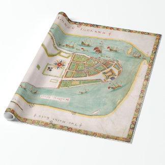 Historische Karte von New York City (1664) Geschenkpapier