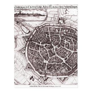 Historische Karte von Nordlingen, Deutschland im Postkarte
