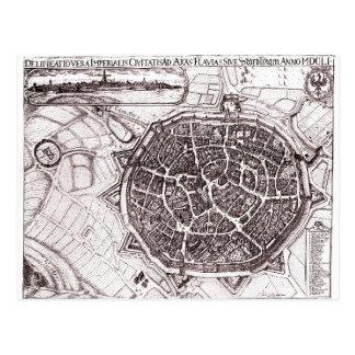 Historische Karte von Nordlingen, Deutschland im Postkarten