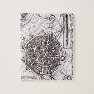 Historische Karte von Nordlingen, Deutschland im Puzzle