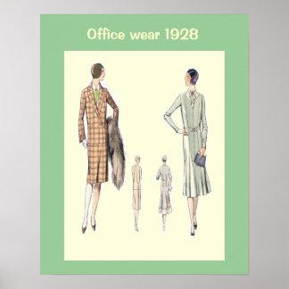 Historische Mode 1928 Plakatdruck