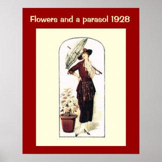 Historische Mode 1928 Poster