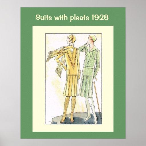 Historische Mode 1928 Plakate